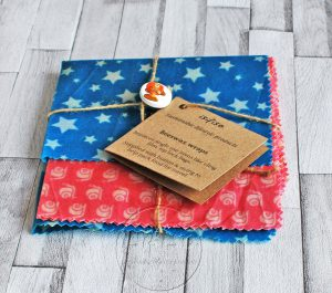 Beeswax wraps – Pink snails and Blue stars