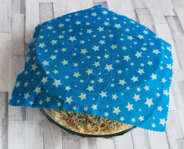 Blue star beeswax wrap to wrap food