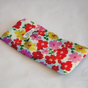 Multi colored flowers print lavender eye masks eco friendly