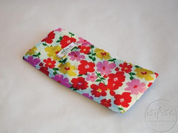 Multi colored flowers print lavender eye pillow eco friendly