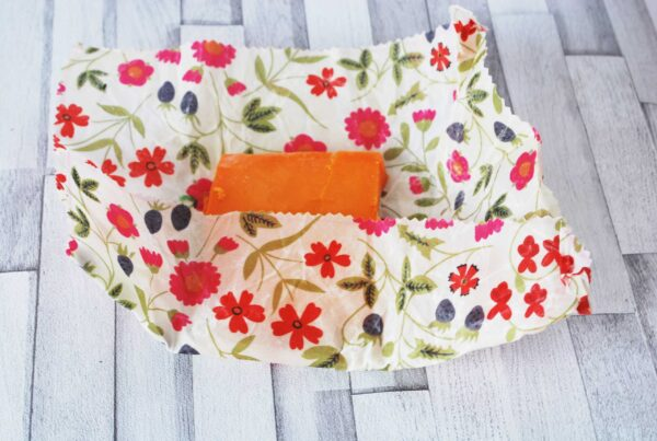 reduce food waste by packing and storing food beeswax wraps
