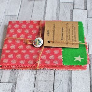 Packaged beeswax wraps