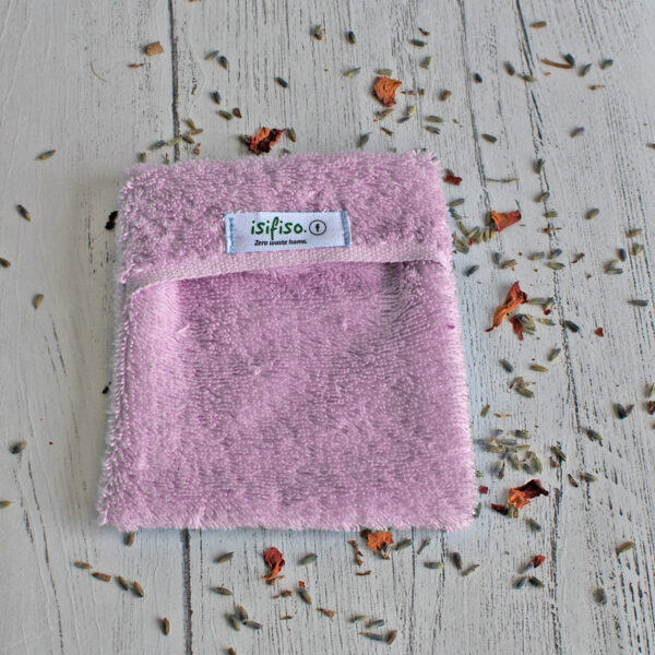 Pink eco friendly shower loofah