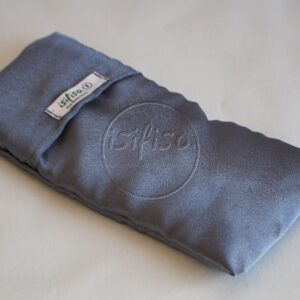 Lavender eye pillow in gray satin eco friendly relaxation