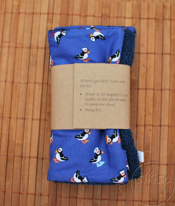 Toucan print home wipes packaged back