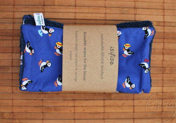 Toucan print home wipes packaged