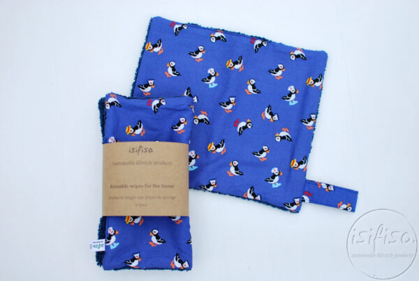 zero waste unpaper towels with Toucans printed
