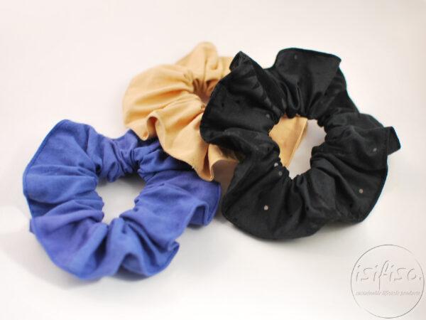 assorted plain colours eco hair scrunchies