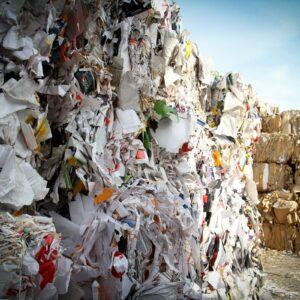 paper waste bundled - saving paper