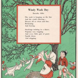 green laundry wash day poem by Dorothy Aldis