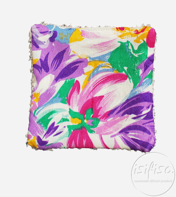 water colour flowers washable makeup remover pads