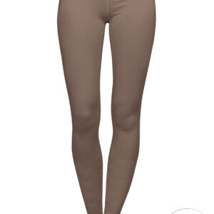 brown organic cotton leggings on a mock-up front view