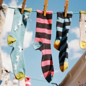 eco friendly laundry drying in the sun